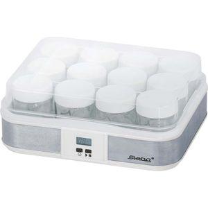 Image for Steba JM 2 Jogurtbereiter | Timerfunktion mit Endabschaltung für die perfekte Konsistenz | Betriebskontrollleuchte | LCD Display | 12 - Glas Joghurtbecher mit Deckel à 0