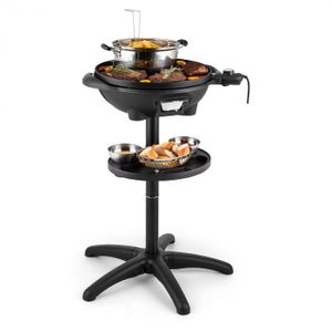 Image for Grillpot Elektrogrill 1600W Standgrill Tischgrill 40cm Grill Gusseisen