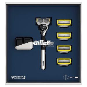 Image for Gillette Geschenkset Handstück + 5 Rasierklingen + Ständer