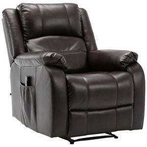 Image for CLP Sessel Kerpen mit Massagefunktion Kunstleder braun 103 x 85 x 95 cm Ganzkörpermassage