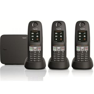 Image for Gigaset E630A Trio Analog-Telefon schwarz mit Anrufbeantworter