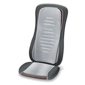 Image for Beurer MG 300 Shiatsu Massage-Sitzauflage - elektrisches Massage-Gerät zur Nacken- und Rückenmassage - Licht- und Wärmefunktion - automatische Körperscan-Funktion - schwarz-grau - Maschinenwäsche