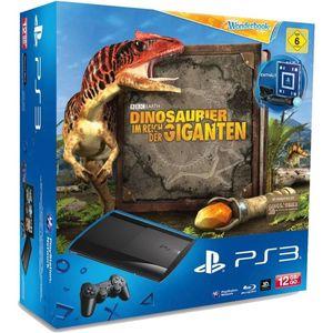 Image for Sony PlayStation 3 Super Slim Charcoal Black 12GB Bundle inkl. Dinosaurier im Reich der Giganten + Move Starter Pack 2