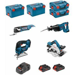 Image for Bosch Professional Kit PSL4WGGM2CP GST 18V-LI B + GKS 18V-57G + GSA 18V-LI + GOP 18V-28+2x4