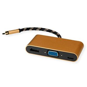 Image for ROLINE Gold Display Adapter USB Typ C - VGA-HDMI-C