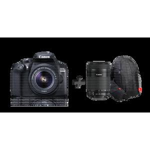 Image for Canon EOS 1300D + EF-S 18-55 / 3.5-5.6 IS II + EF-S 55-250 / 4.0-5.6 IS STM + Tasche