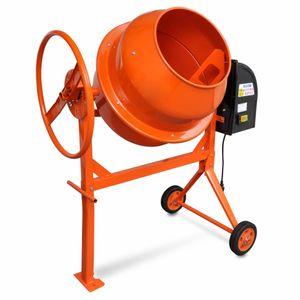 Image for vidaXL Betonmischer Zementmischmaschine 140 L 650 W Stahl Orange