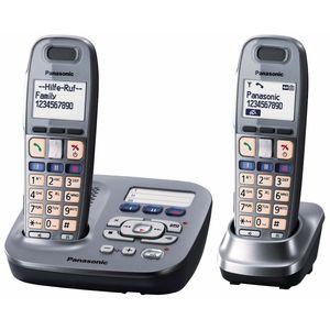 Image for Panasonic KX-TG6592 Duo graphit Analog-Telefon