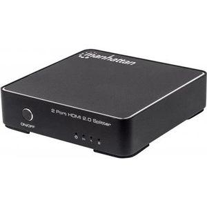 Image for Manhattan 207591 2-Port HDMI Splitter 4K mit 60Hz Netzteil HDCP 2.2'' schwarz