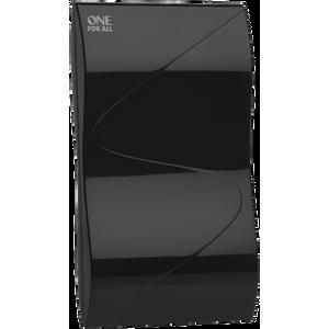 Image for One For All DVB-T-DVB-T2 Indoor-Zimmerantenne - HD-HDTV Fernseher TV Antenne mit Verstärker - 0-15 km Reichweite ? 1.5 meter Koaxialkabel - UHF-VHF - Schwarz - SV9323