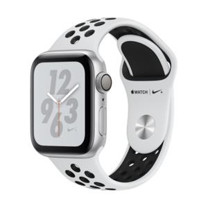 Image for Apple Watch Series 4 Nike+ GPS Aluminium 40mm Sportarmband Silber/Platinum