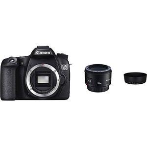 Image for Canon EOS 70D mit EF 50mm f-1.8 II und Gegenlichtblende ES-62 W Kamera
