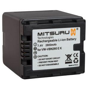 Image for Mitsuru 21 Wh 7.4 V Original Akku für Panasonic Camcorder HDC-HS900. Ersetzt: VW-VBN260E