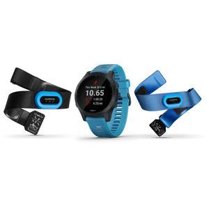 Image for Garmin Forerunner 945 Bundle Triathlon GPS Blau/Schiefer Smartwatch Unisex