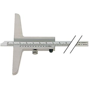 Image for Atorn Tiefenmessschieber Schieblehre INOX 250 mm Brücke 130 mm mattverchromt
