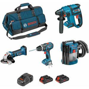 Image for Bosch Professional Kit PSL4M2CBECP GBH 18V-EC+GSB 18V-21+GWS 18-125 V-LI+GAS 18V-10L+2 x 4