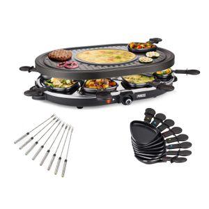 Image for Raclette mit Gabeln für 8 Personen mit Crêpefläche Elektro Tischgrill Raklett