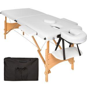 Image for Tectake 2 Zonen Massageliege mit 5 cm Polsterung und Holzgestell