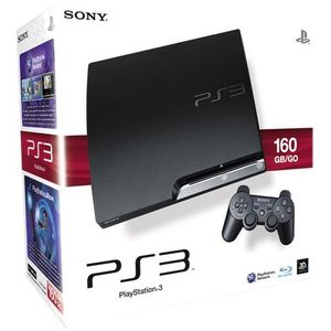 Image for Sony PlayStation 3 Slim Charcoal Black 160GB