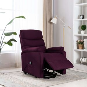 Image for vidaXL Massagesessel mit Aufstehhilfe Lila Stoff 73 x 90