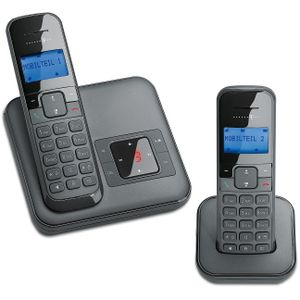 Image for Deutsche Telekom Sinus CA34 Duo Analog-Telefon schwarz