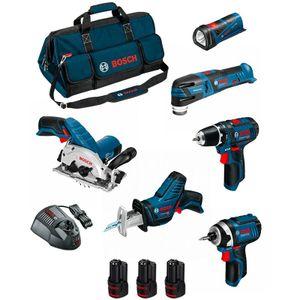 Image for Bosch Professional Kit BMKB6-28AD3 GSR 12V-15+GDR 12V-105+GKS 12V-26+GOP 12V-28+GSA 12V-14+GLI 12V-80+3x2