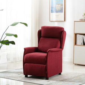 Image for vidaXL Massagesessel Weinrot Stoff 6-Punkt-Vibrationsmassage USB + Fernbedienung