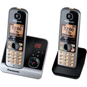 Image for Panasonic KX-TG6722GB Analog-Telefon schwarz