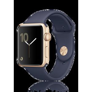 Image for Apple Watch Series 2 38mm Aluminium gold mit Sportarmband mitternachtsblau