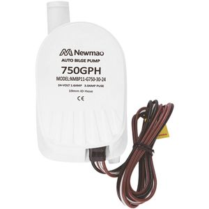 Image for 750GPH automatische Bilgenpumpe RV Abwasserpumpe eingebauter Schwimmerschalter 19mm Auslass Bilgenpumpe Modell G750-30-24