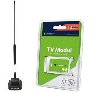Image for Freenet TV CI+ Modul 12 Monate Guthaben & DVB-T2 HD Antenne STARFLEX T4 Bundle