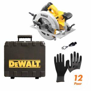 Image for DeWALT Handkreissäge DWE575K-QS SET inkl. Handschuhclip + 12x Arbeitshandschuhe