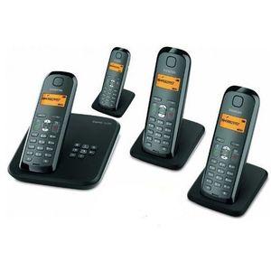 Image for Gigaset AS285 Quattro Analog-Telefon schwarz/silber