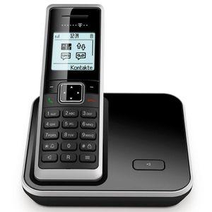Image for Telekom Sinus 206 Analog-Telefon schwarz/silber