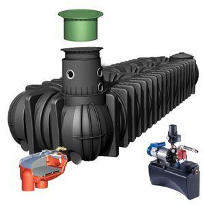 Image for GRAF Regenwasser-Flachtank Platin 10000L Haus Eco-Plus begehbar Gartenpumpe