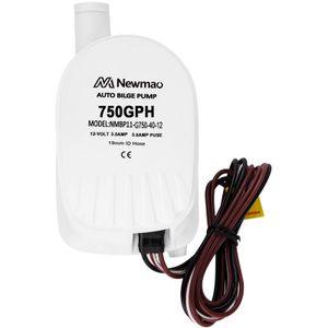 Image for 750GPH automatische Bilgenpumpe 19mm Auslass eingebauter Schwimmerschalter RV Abwasserpumpe Modell G750-30-12