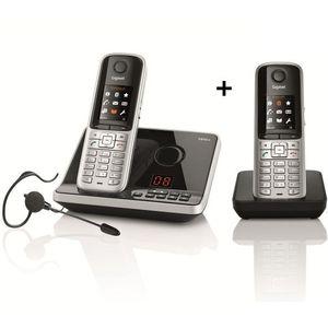 Image for Gigaset S810A Duo Analog-Telefon schwarz