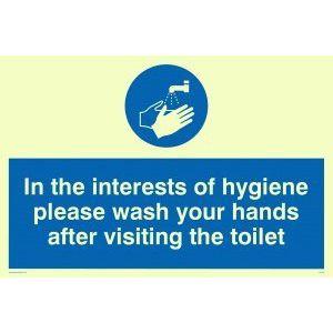 Image for Viking Schilder mh196-a4l-p''Im Interesse der Hygiene Bitte waschen Sie Ihre Hände nach dem Besuch der Toilette'' Zeichen