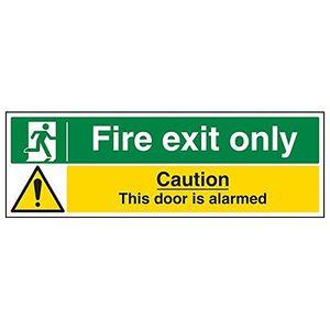 Image for vsafety 14013bp-s''FIRE EXIT--NUR Tür Alarmgesicherter'' Sign