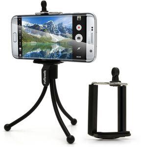 Image for igadgitz Beinen Mini Stativ mit Taschenclip + Standard Smartphone Halter Halterung für Samsung Galaxy A9 A8 A3 A5 Alpha