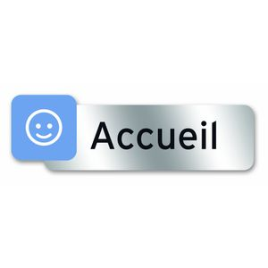 Image for Symbol psc25 Polycarbonat selbstklebend Plaque 160 x 50 mm mit ACCUEIL Formulierung [French]