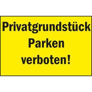Image for Verbotsschild ''Privatgrundstück - Parken verboten!''