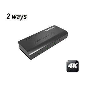 Image for EDISION 4k HDMI Splitter 1x2 Verteiler Ultra HD 2160p Full HD 1080p C HDCP 3D Ready