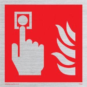 Image for Viking Schilder fv343-s40-s Fire Alarm Call Point nur Symbol Zeichen