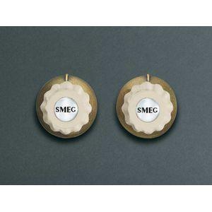 Image for Smeg MMC745PO Bedienknebel Set Creme/ Messing Antik
