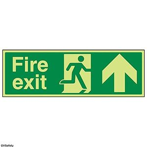 Image for vsafety 14001bj-g''FIRE EXIT Pfeil bis'' Sign